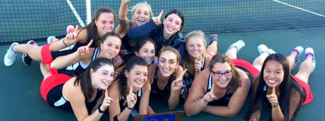 Girls tennis 3-peats with sectional championship