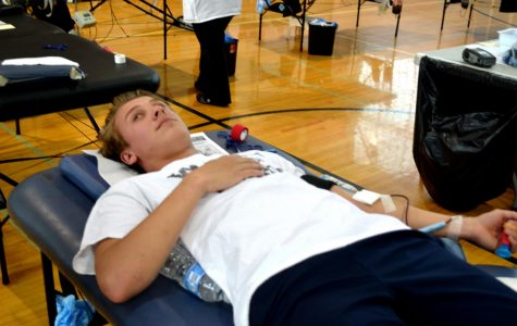 Blood drive: a hit among students
