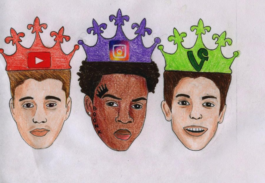 """Apps have allowed people to gain popularity and show off their talents in the public eye. Justin Bieber, """"Boonk Gang"""" and Shawn Mendes are represented as the """"kings"""" of their respective social media platforms."""
