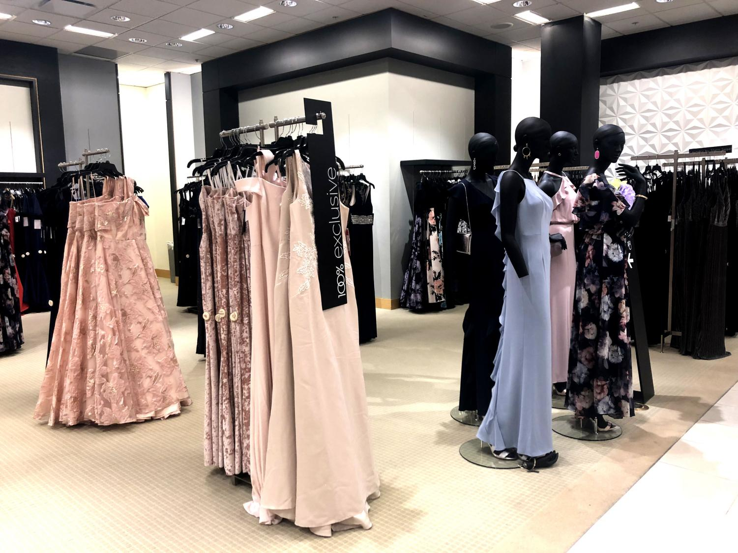 72ebd9049 (Photo by Ally Schachtel) Bloomingdales of Willowbrook mall is filled with  prom dresses.