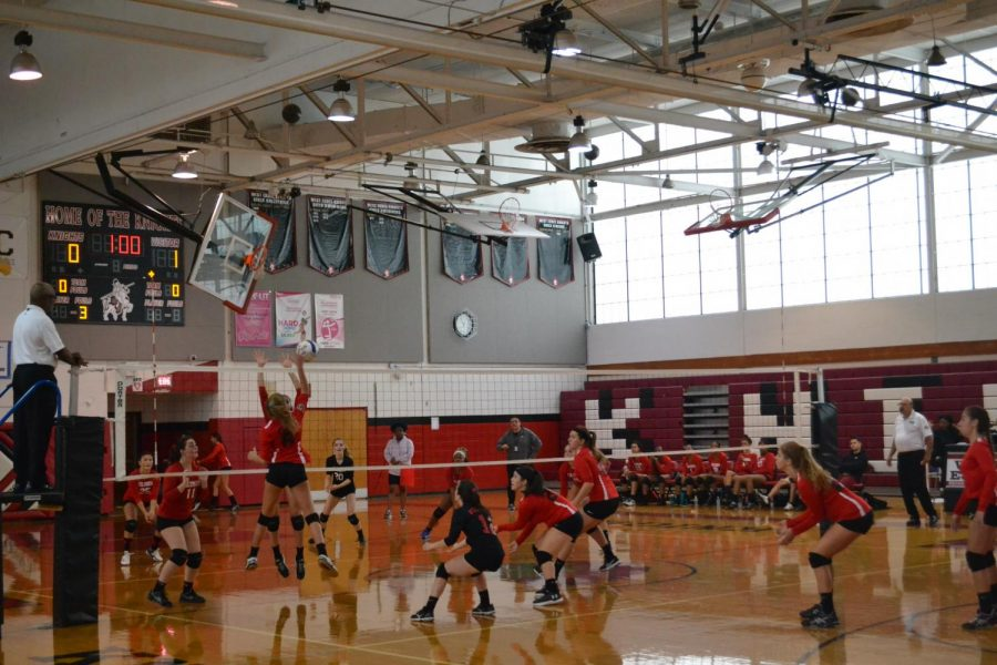 (Photo courtesy of Anna Rose Mihalik) The girls volleyball team is off to a strong start this year with an 8-1 record so far.