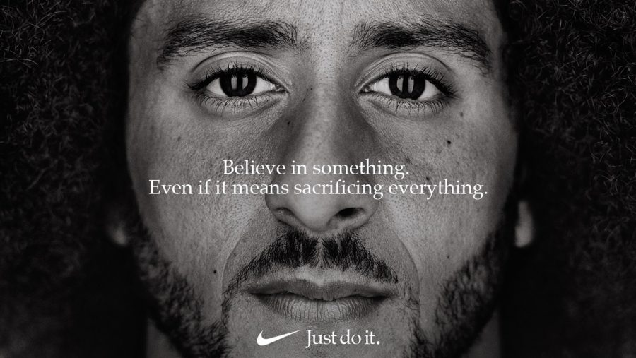 Colin+Kaepernick+appeared+in+a+Nike+ad+on+Sept.+5.