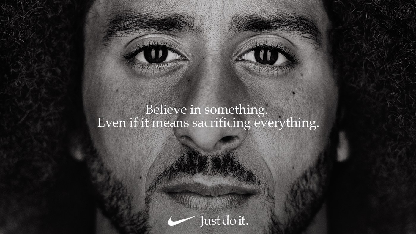 Colin Kaepernick appeared in a Nike ad on Sept. 5.