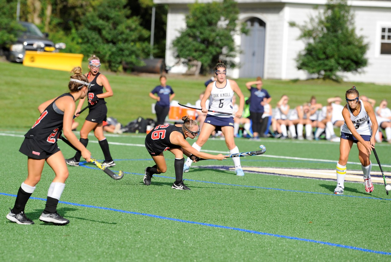 (Photo courtesy of Lisa Manuzza Photography) Freshman Halle Aschenbach moves the ball in a game this past fall.
