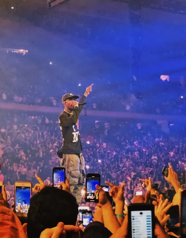 (Photo courtesy of G.K.) Travis Scott performing at his Madison Square Garden show.