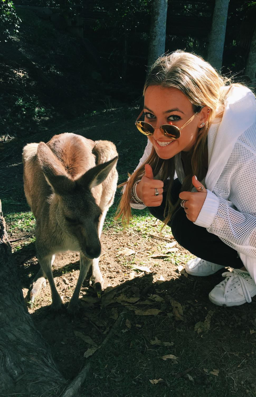 Senior+Ally+Schachtel+posing+with+a+kangaroo+in+Sydney%2C+Australia