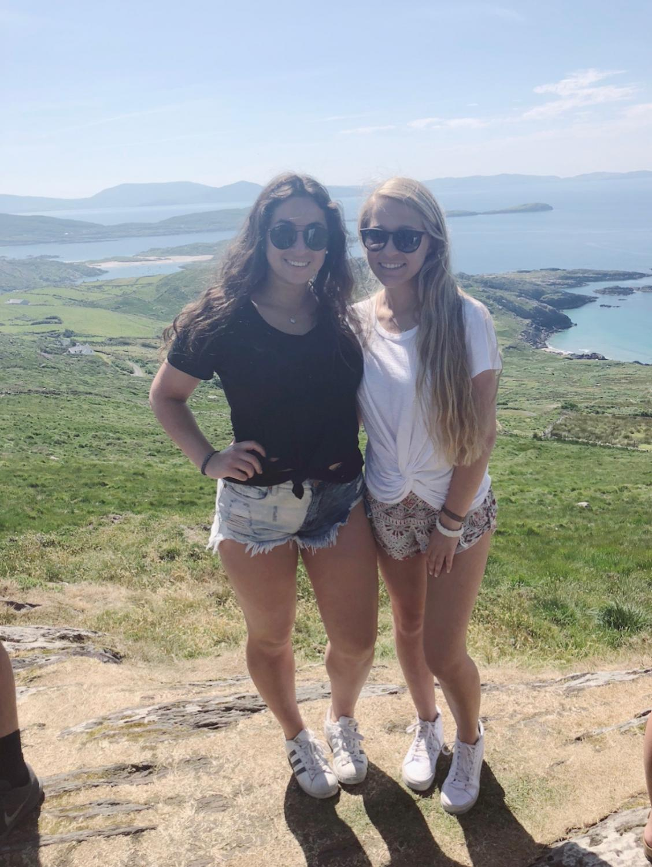 Seniors+Brooke+Ivler+and+Megan+Morganti+at+the+Ring+of+Kerry+in+Ireland