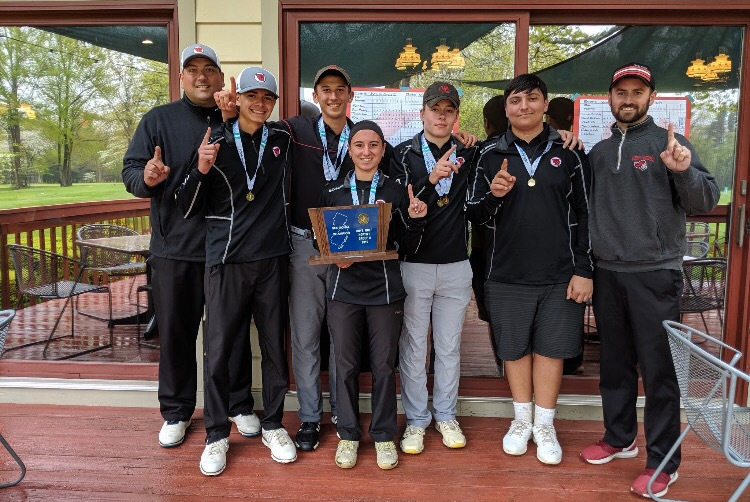 %28Photo+courtesy+of+Anthony+Lozito%29+The+Golf+Knights+were+victorious+in+the+state+sectional+tournament+May+13.