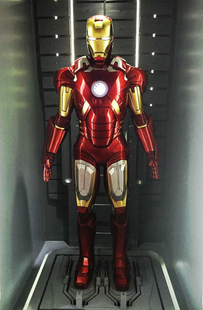 (CC by 2.0) Iron man Mark 7 suit, as seen in The Avengers