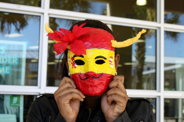 A+mask+at+the+a+Hispanic+festival+for+Hispanic+Heritage+Month.