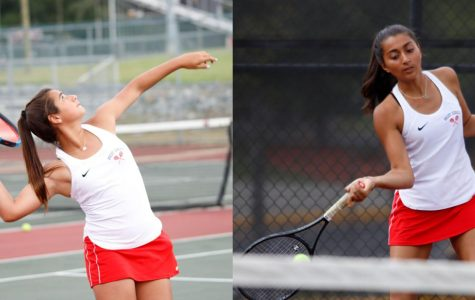 Photos courtesy of The Milestone Yearbook (taken by legacy studios) Freshmen Jordan Cohen (left) and Nitya Vyas perfecting their skills in a cutthroat practice session.