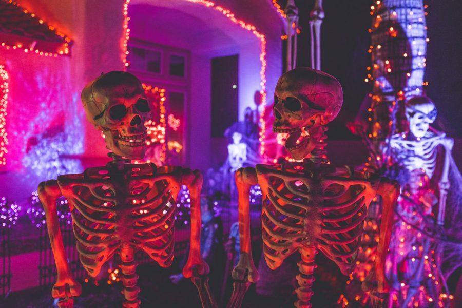 Halloween decorations celebrate the fun and spooky Halloween spirit.