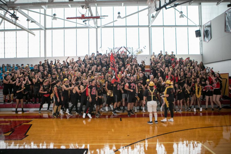 (Photo courtesy of Stephen Miller) The class of 2019 shows their spirit during color day.