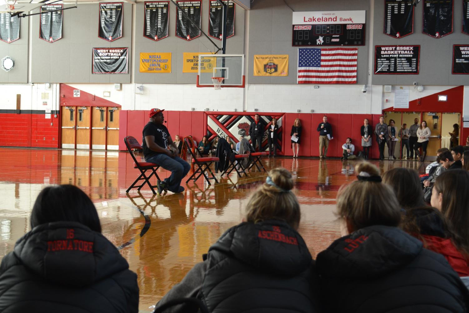 Motivation speaker Mykee Fowlin came on Nov. 13 to speak to underclassmen.