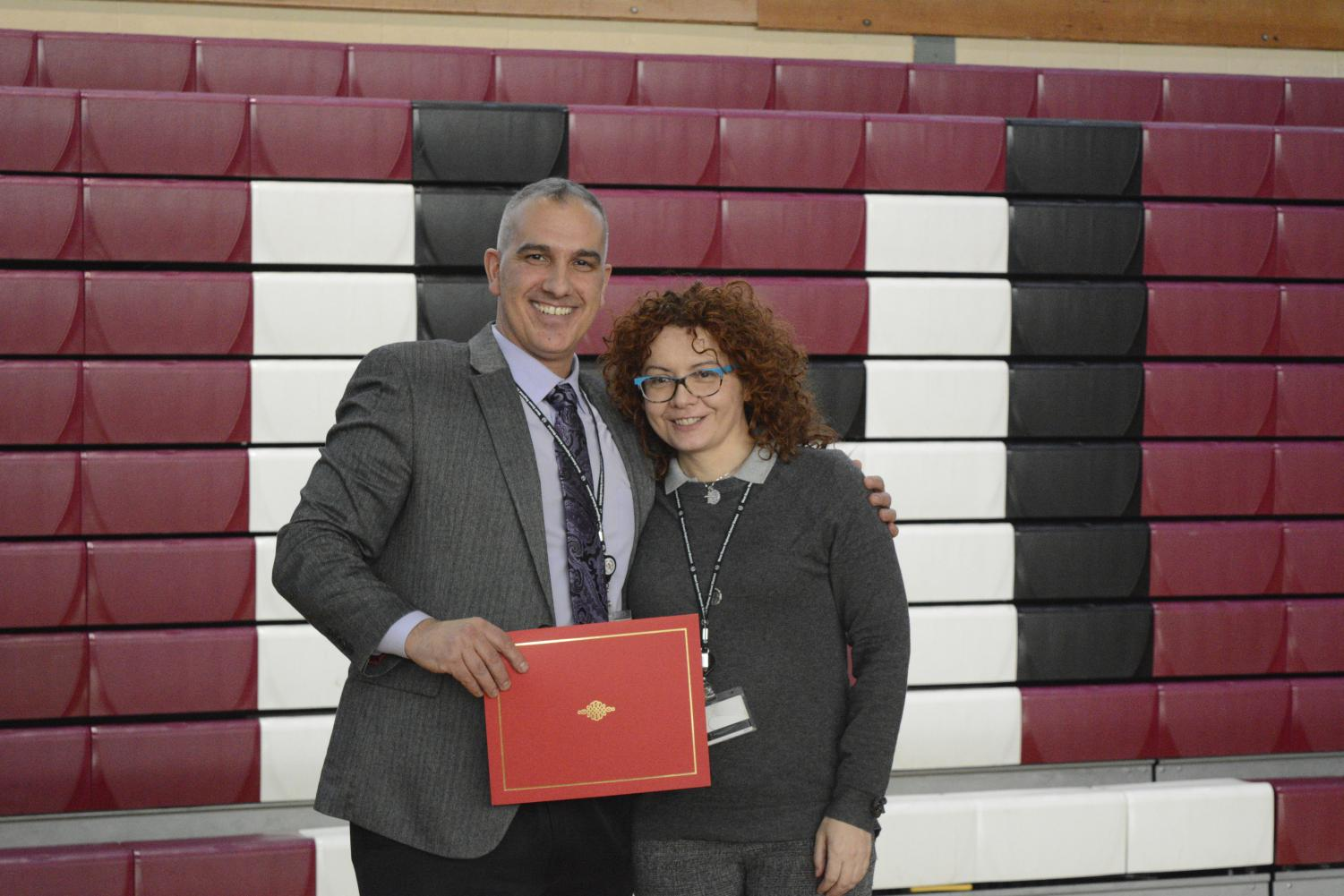 Ms. Pivetta received a nomination for her hard work in the classroom. (Photo Courtesy of Lucia Bazzarelli)