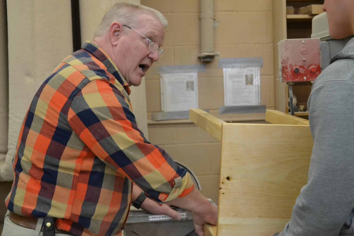 Oberg honored with Teacher of the Year, the year of his retirement.
