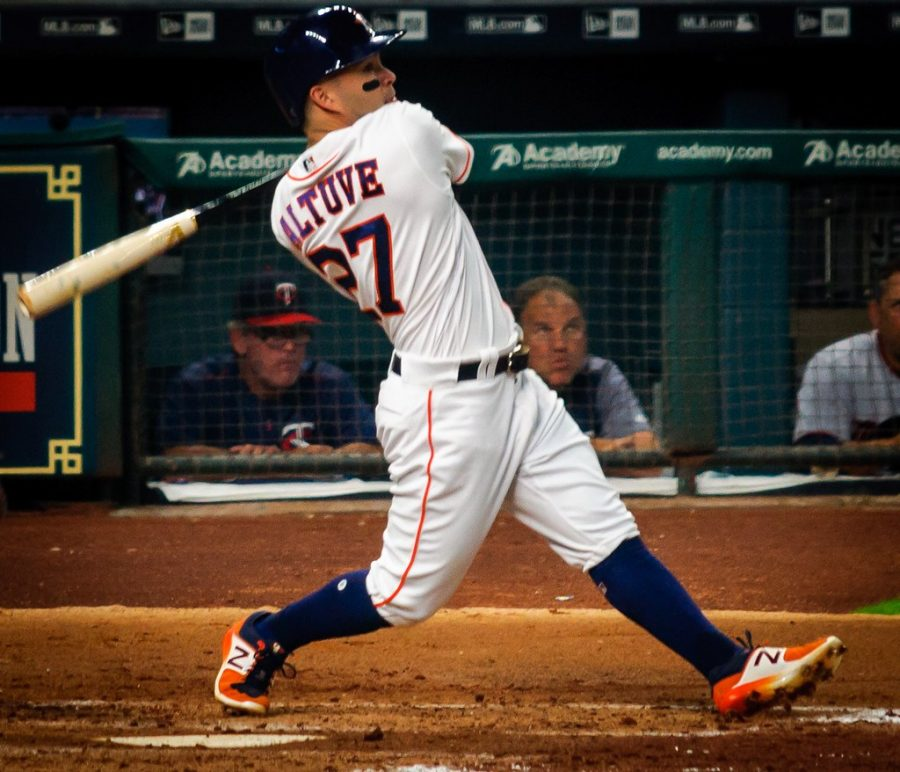 Astros+star+2B+Jose+Altuve+won+MVP+in+2017.+Many+fans+are+calling+for+him+to+relinquish+his+award+due+to+this+scandal.+Photo+courtesy+of+Cmy23.+%28CC+BY-NC+2.0%29