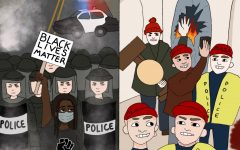 Police unfairly treated Black Lives Matter protesters with violence, even when most of the protests were peaceful, while letting capital rioters off easy even after acting violently.