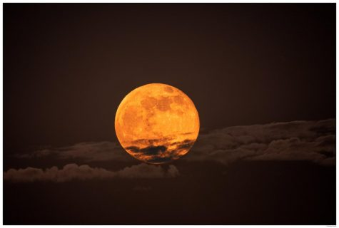 The Super Pink Moon, visible April 26 and 27, was the biggest astronomical happening amid of sea of night sky activity in April. It started at moonrise April 26 and stayed throughout the remainder of April 27. (