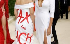 Congresswoman Alexandria Ocasio Cortez sports this look at the Sep 13 Met Gala. After paying $35,000 to be there in addition to the cost of the designer dress, the statement written across it is almost laughable.