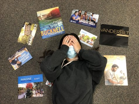 Seniors grow stressed and anxious as the college application process and due dates approach.